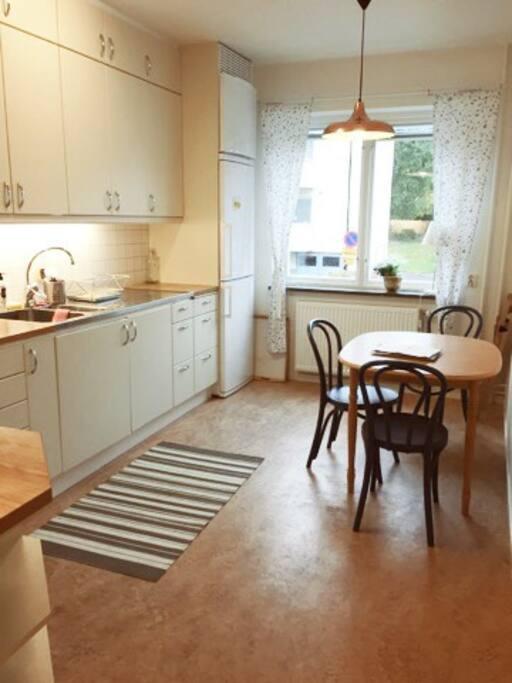 Practical kitchen.