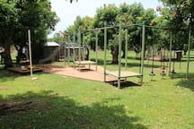 Energetic kids can burn energy on the playground