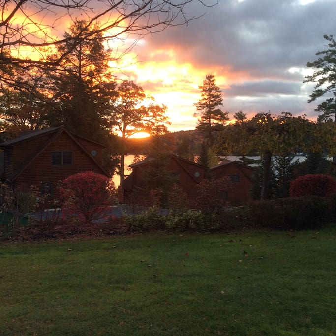 Sunrise at the cabin