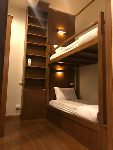 Private Twin Bunk Bed with Bathroom