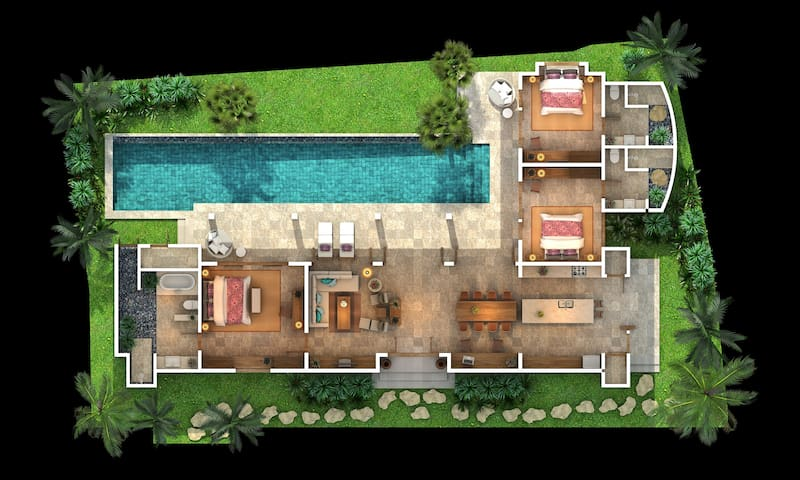villa kerasan lay out plans
