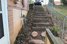Stairs back up to car