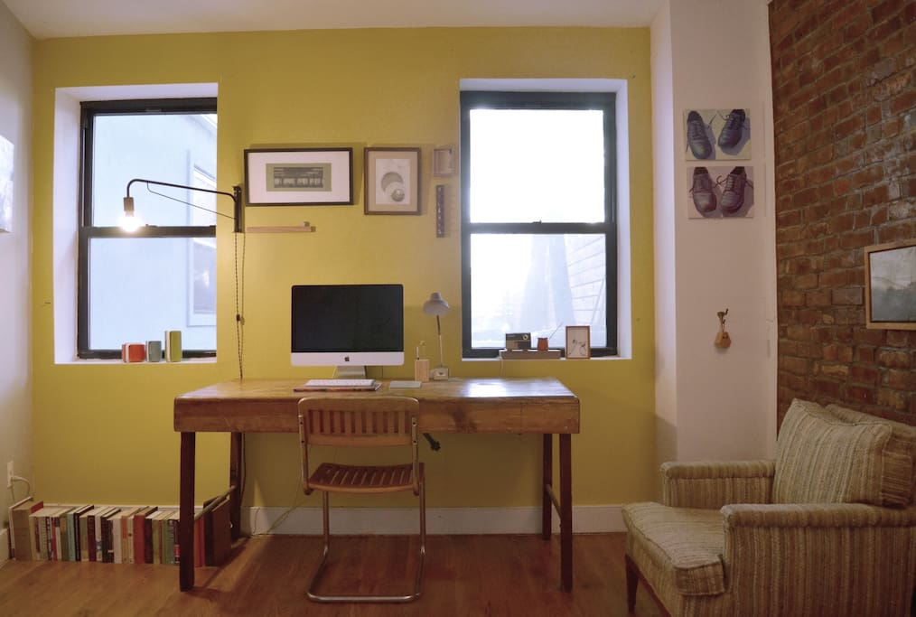 Your very own home office — technically, my home office, but you have full reign with the iMac.