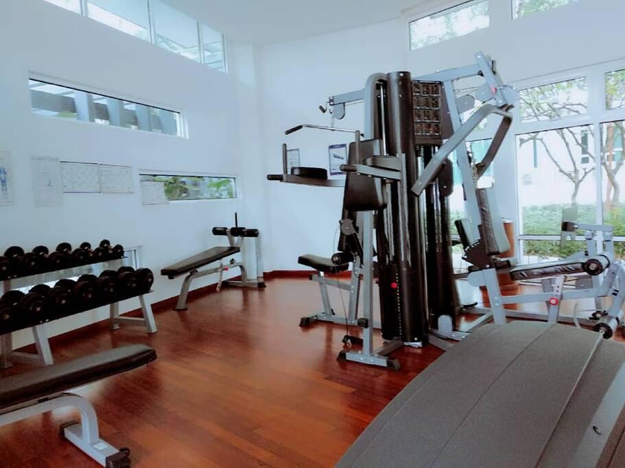 设备齐全的健身器材,能在这里尽情挥洒汗水