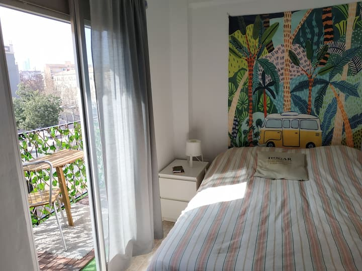 Lovely double room with large private balcony