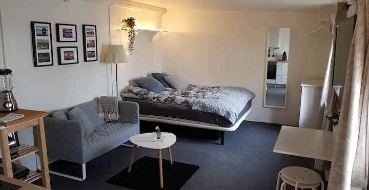 Cozy studio with high-speed wifi and free parking