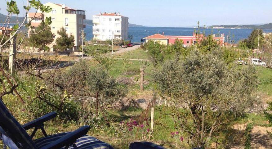 Bosphorus view apartment with garden