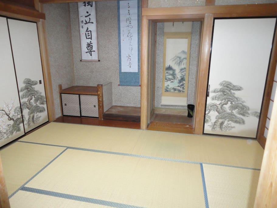 和室6畳間 床の間の様子
