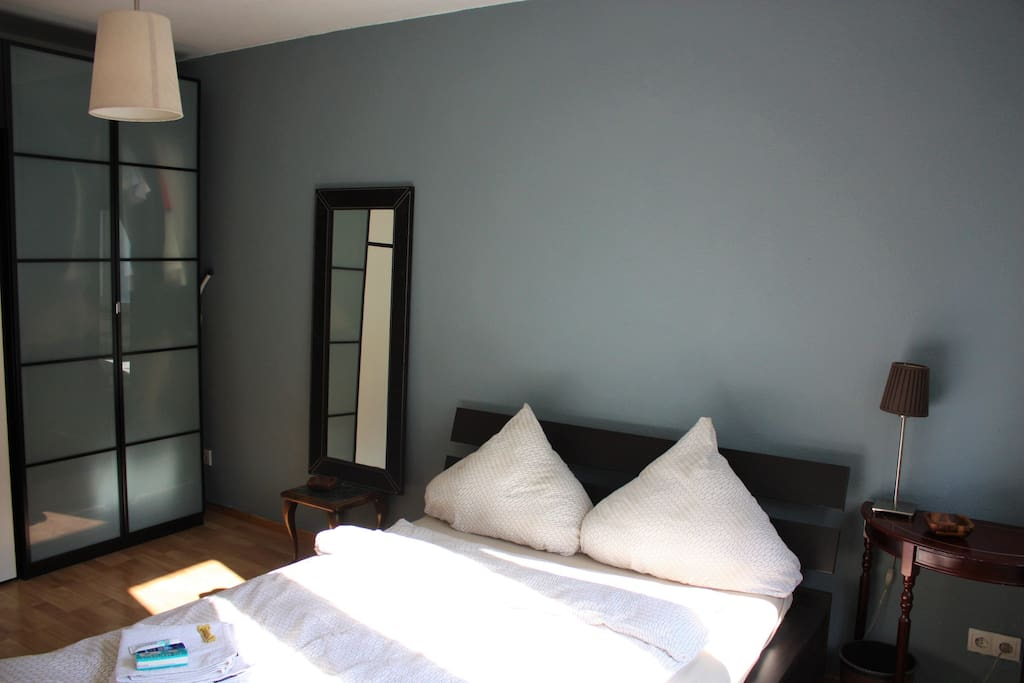 Master bedroom with new wall colour (with wardrobe and commode)