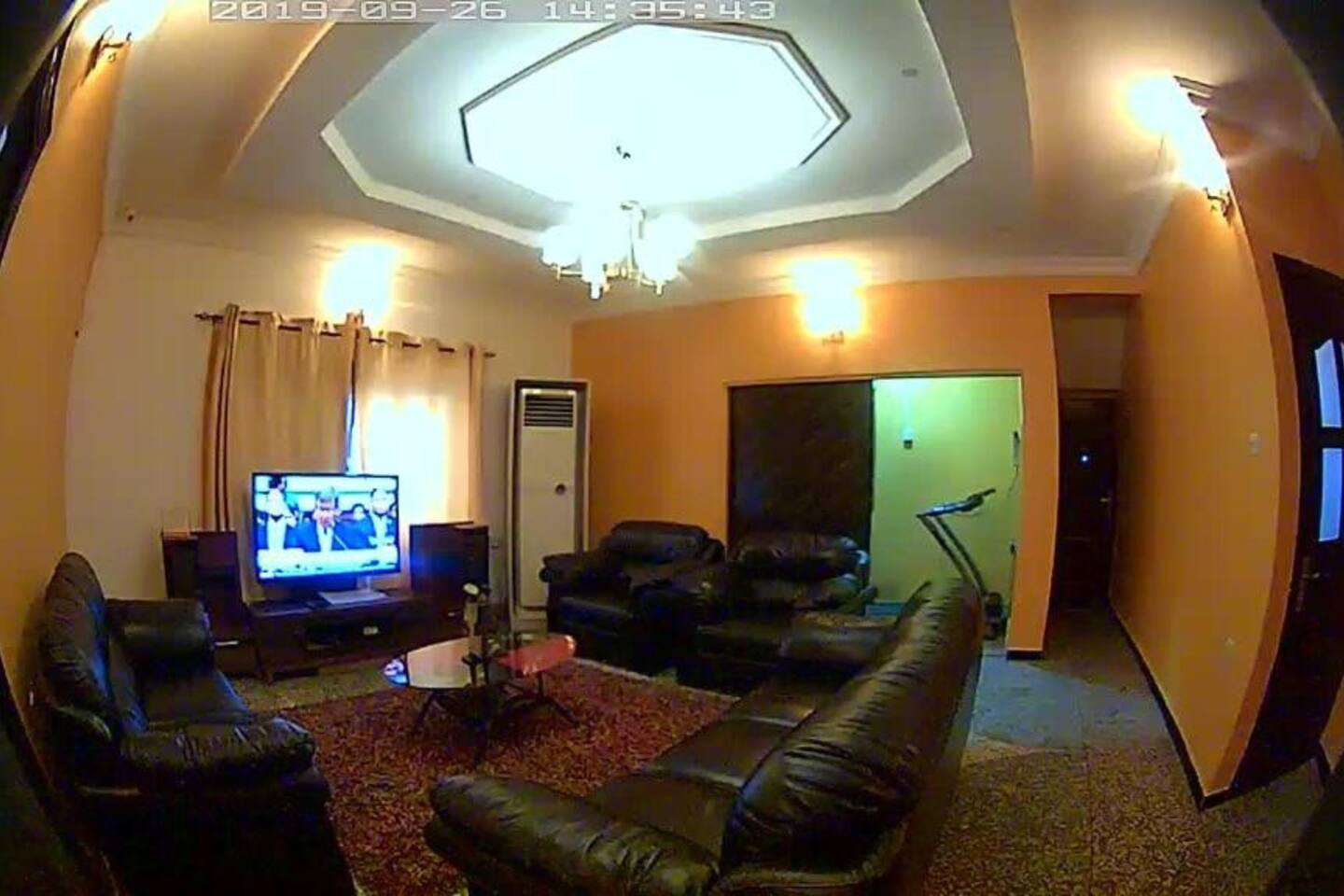 Bed Room- Cable TV, AC, Fridge, Table/Chair, Well Furnished Sitting Room, Well Furnished Kitchen, Treadmill, 24/7 Power/Wi-Fi, Free coffee/tea, Well stocked private bar, 3parking lots, 24/7 secured/serene location off Toyin Street, Ikeja.