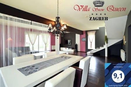 Villa Snow Queen 200m2, 4* ,jacuzzi,free park.. - Zagrzeb - Willa