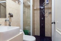 Toilet with Bidet and Shower with Heater