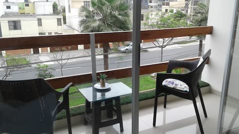 Moderno Dpto 5to piso full - Hospedaje Empresarial