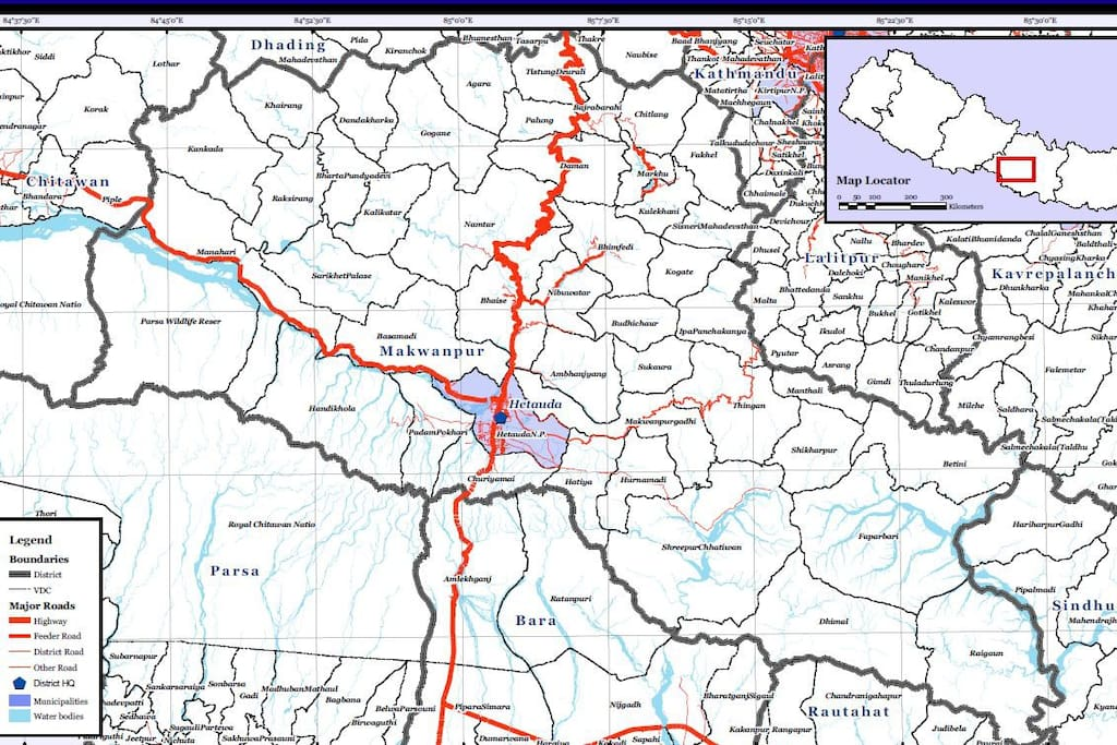 Makwanpur District Map