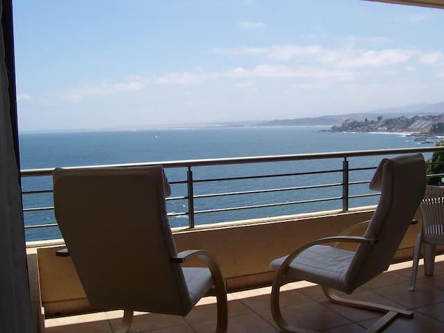 Gran terraza relajo al sonido del mar - Con Con - Departamento