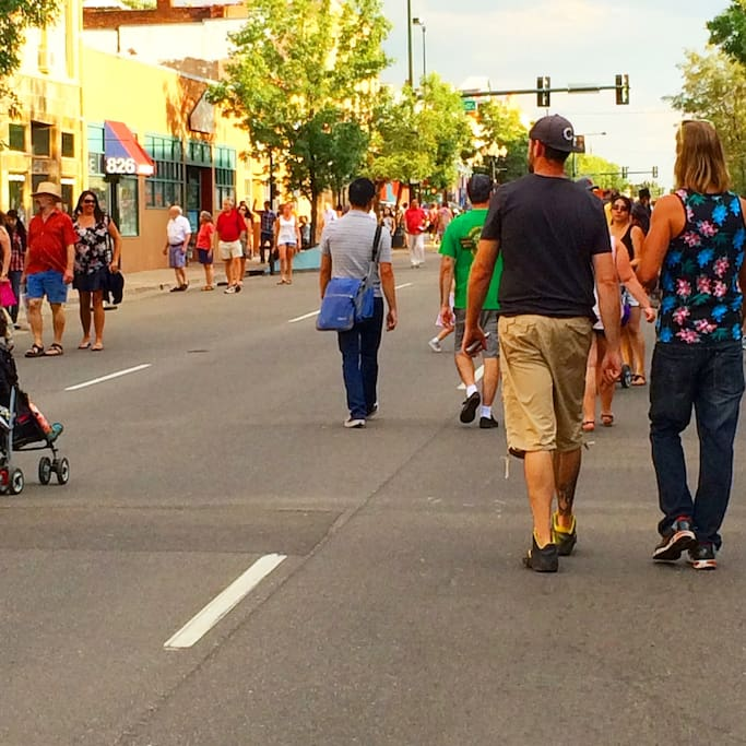 The Arts!  First Friday on Santa Fe, the biggest in the USA
