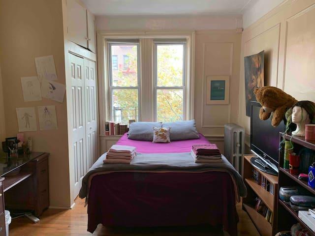 Spacious room in historic brownstone