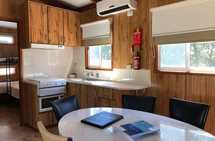 Two-bedroom self-contained cabins