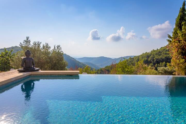 Finca with stunning infinity pool&spectacular view - Esporles - Villa