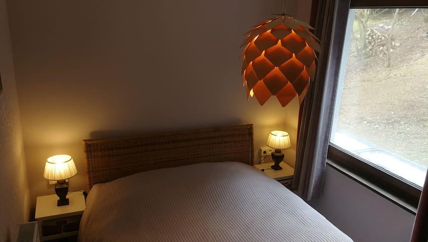 Slaapkamer 1 gelijkvloers naast woonkamer - Bed 160 cm