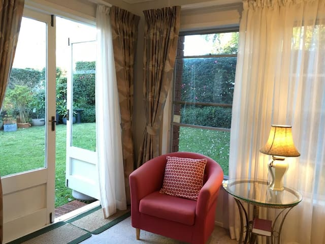 Refresh yourself in private garden view suite