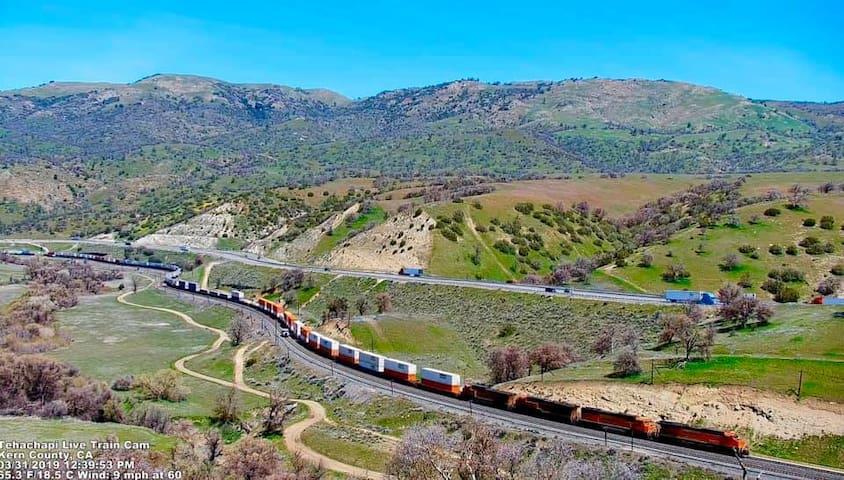 Tehachapi Bed and Trains