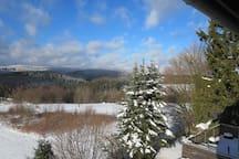 Ferienwohnung mit Blick auf die Harzer Berge