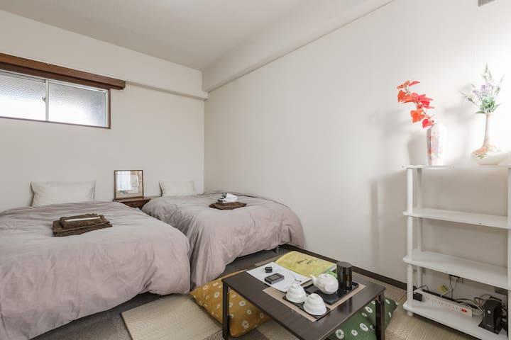 Easy from Kyoto Sta,Nijo-castle,kinkakuji/freeWifi - Kamigyo-ku Kyoto-shi