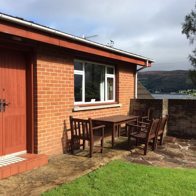 Sun trap with a view - patio area