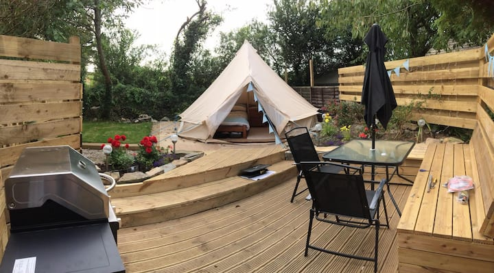 Beautiful Glamping Belltent (sl. 2+baby), Marazion