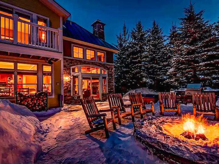 ❤ of Solstice | 2-Story Fireplace | Hot Tub | Chef