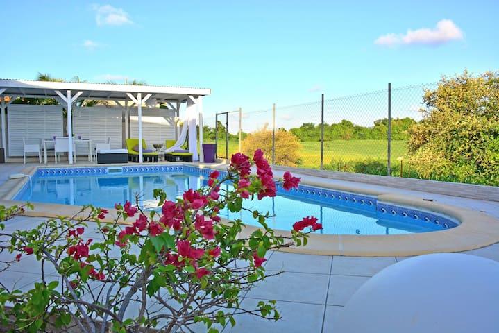 Villa Améthyste- piscine privée 9X4m- proche plage