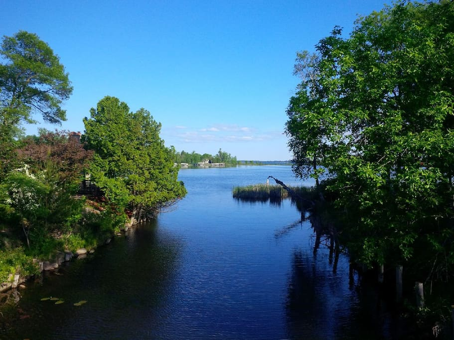 Breezy Point Resort -- we are close to this beautiful bay that opens into Pelican Lake -- one the clearest lakes in Minnesota! I took this picture a few years ago. (PLEASE NOTE: We do NOT live on the lake but are about 1 mile from its entrance!).
