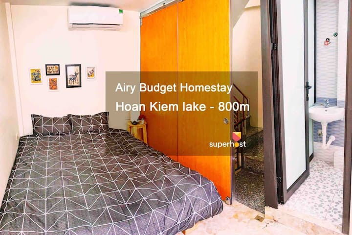 Airy❤️BudgetHome★PRIVATE bath❤️CENTRAL★Window