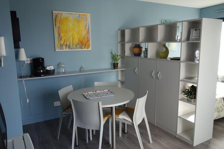 Studio rénové avec terrasse près du centre-ville - Niort - Byt