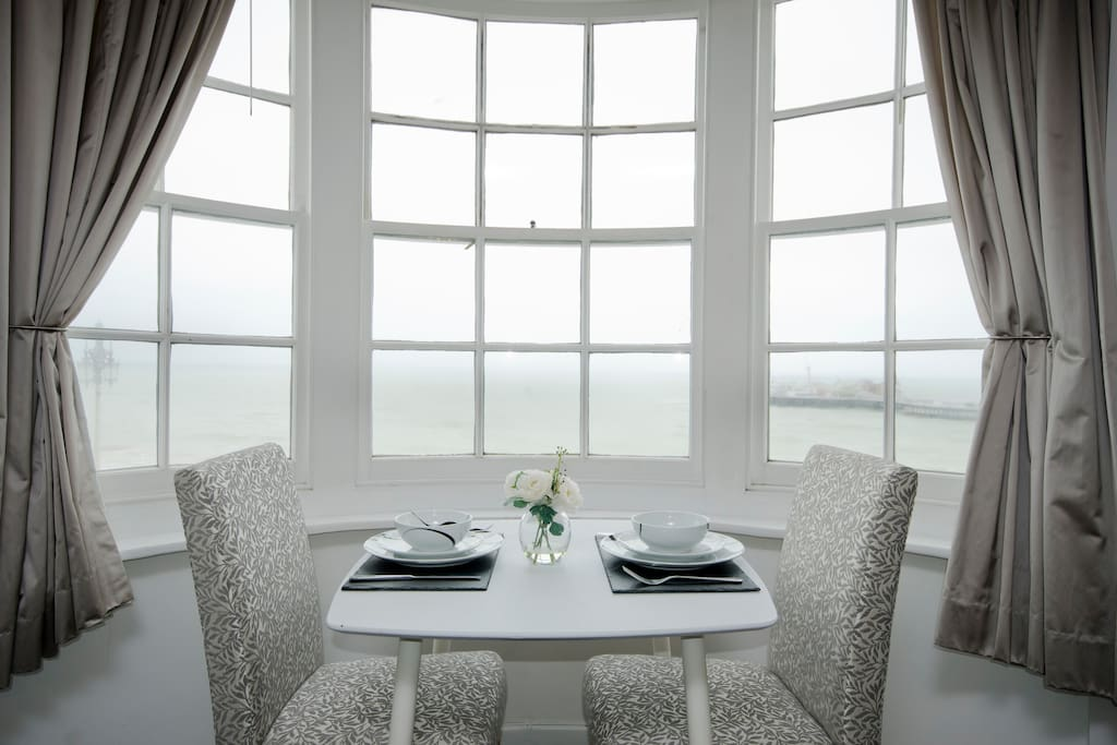 Beautiful window where you can dine or work whilst taking in the spectacular view