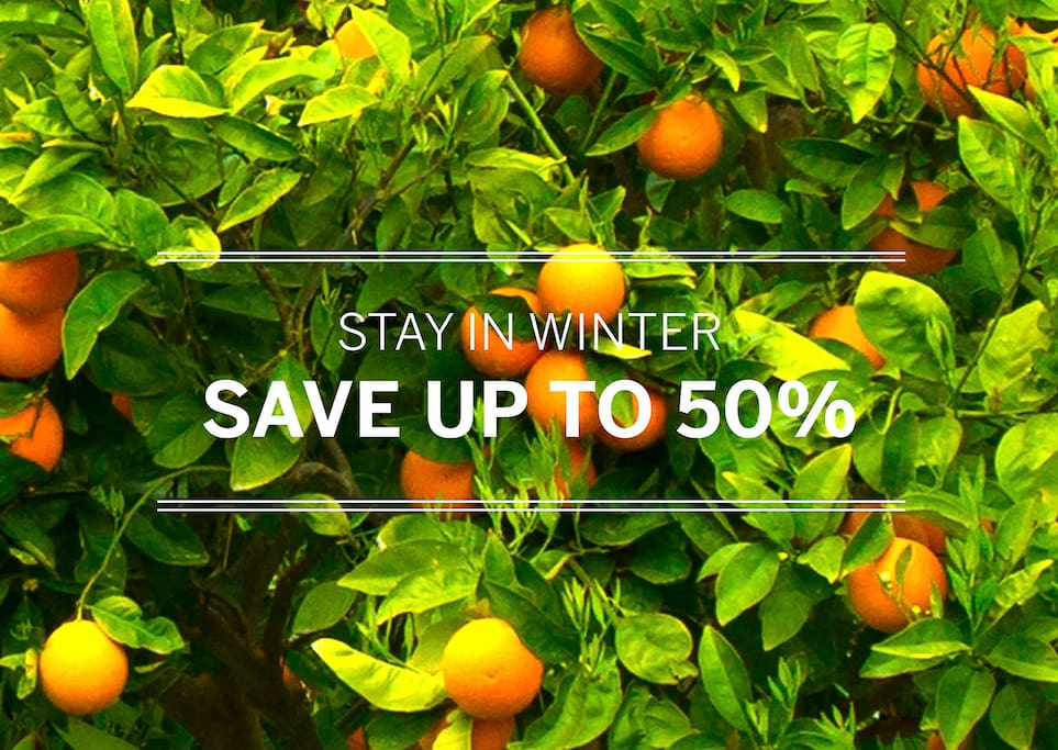 Stay during autumn and winter time and save up to 50%.