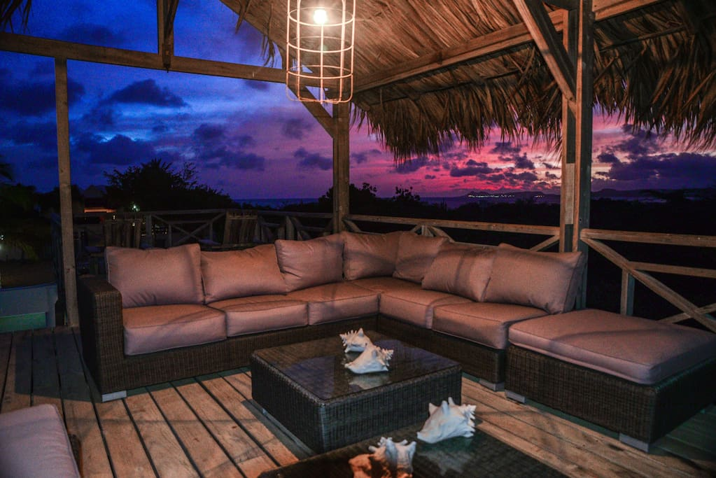 Enjoy the beautiful sunset overlooking the sea form the Gazebo lounge.