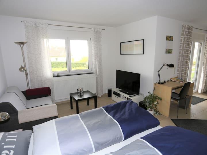 Ferienwohnung Rheingeschaut, (Bad Bellingen), Ferienwohnung, 40qm, 1 Wohn-/Schlafraum, max. 2 Personen