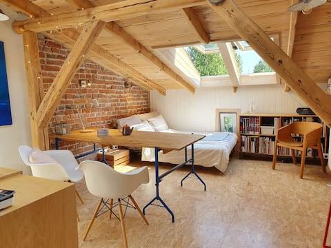 Beautiful Studio in Warsaw close to Vistula River.