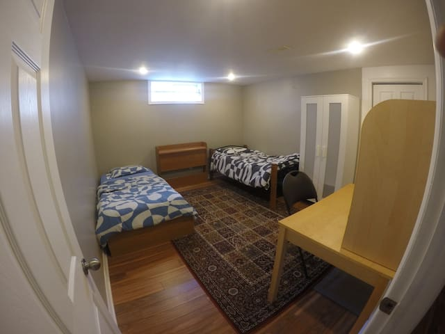 Quite room in basement, close to South Keys
