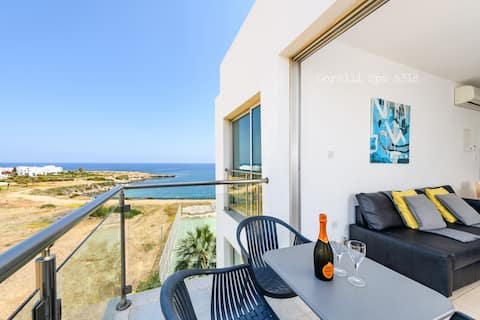 A318 Modern Apartment with Sea View-(free WiFi)