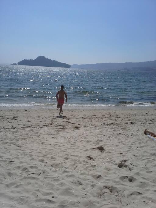 Playa Cabeceira a menos de  1500 metros de casa.