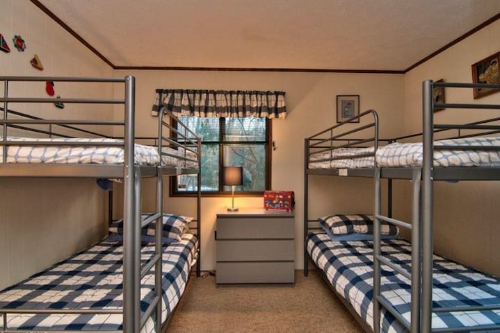 Kids room with two bunk beds