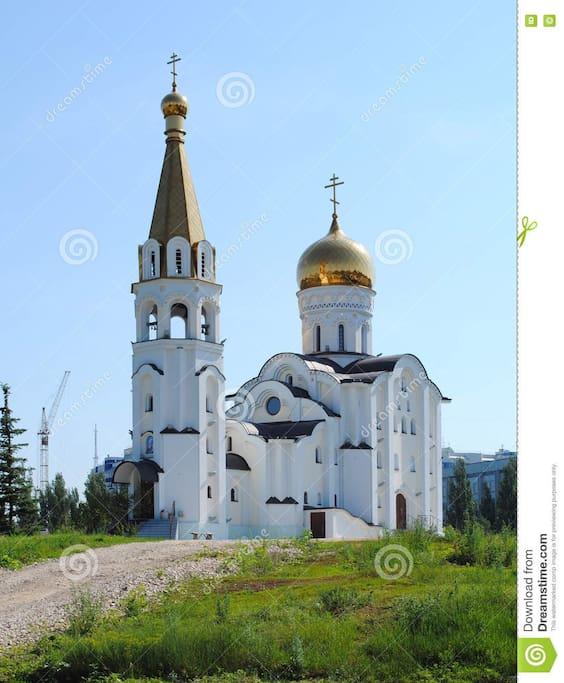 На территории находится церковь святой Татьяны/On the territory of the yard is the Church of St. Tatiana