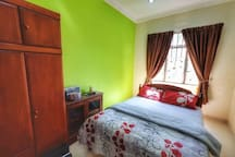 The 3rd room is very spacious, with a queen size bed a 3-door cupboard