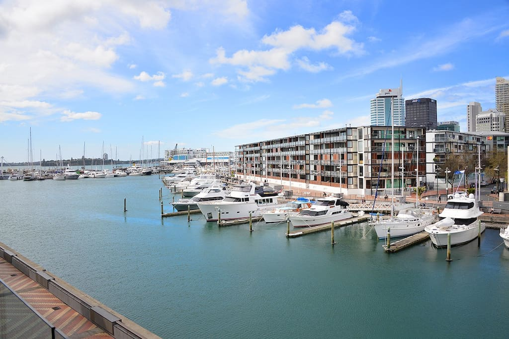 with amazing views of the marina