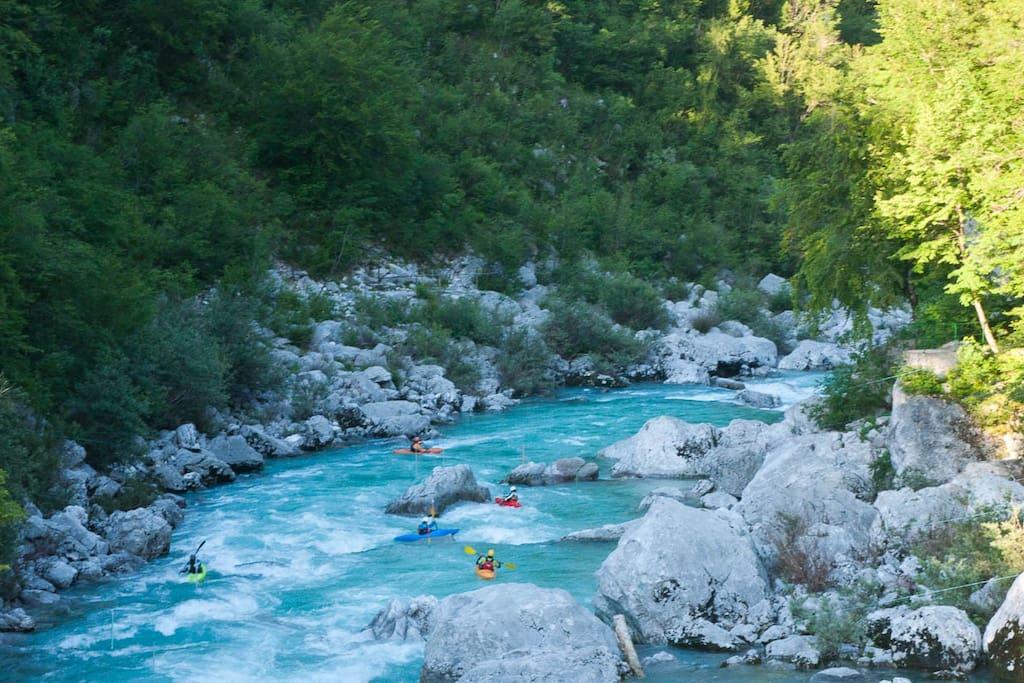 The river - activities in Bovec - 1.6 km away