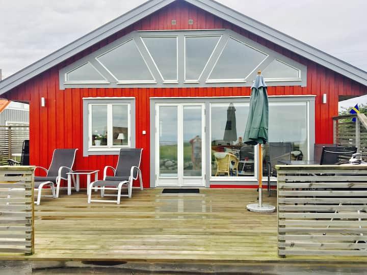 Hus på östra Öland, vid havet