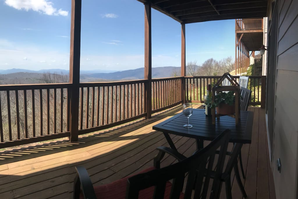 Seating on our 300ft covered deck..